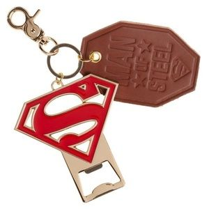 Superman Premium Bottle Opener & Leather Key Ring